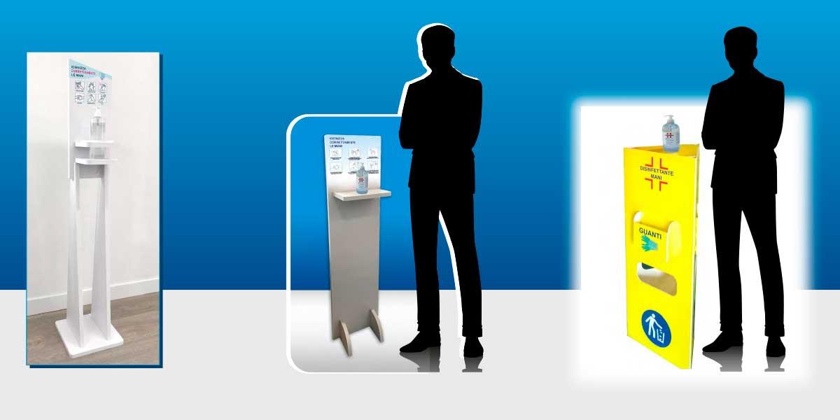 Colonnine per Dispenser igienizzanti